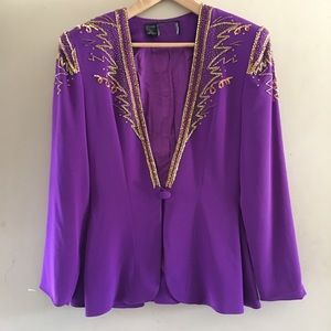 Vintage Purple Rhinestone Blazer